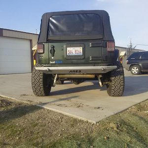 JK Rear Stubby Bumper - rear view