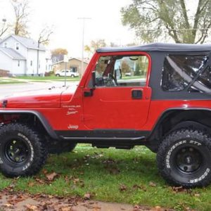 side view of the rocker armor on a TJ