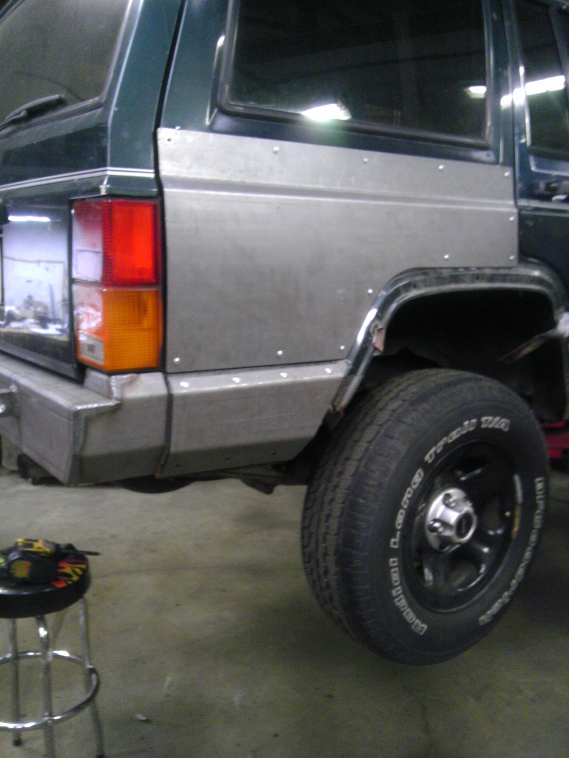 Rear Quarter Panel Armor - Cherokee XJ