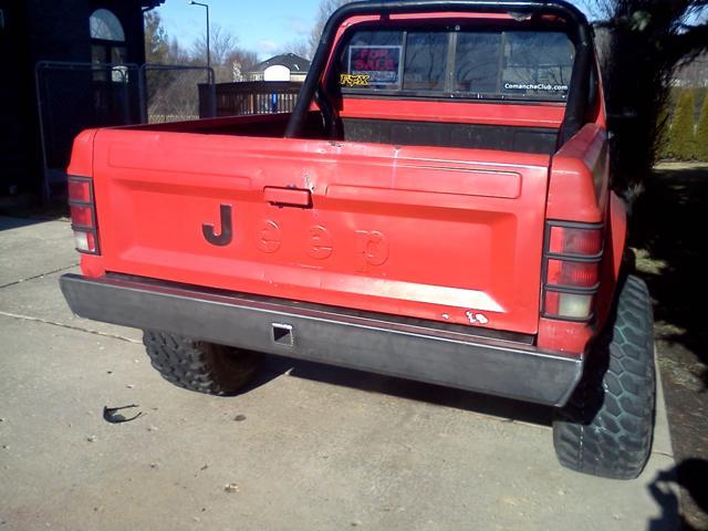 Mj Rear Bumper Nostalgia Jeep Comanche 86 92 Ares