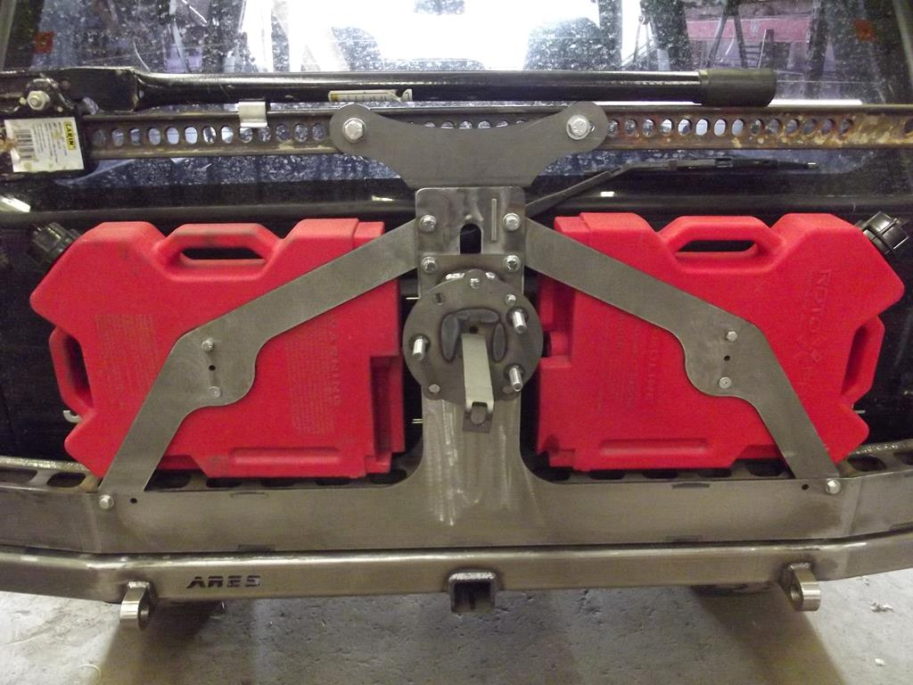 Xj Rear Expedition Tire Carrier Add On Ares Fabrication