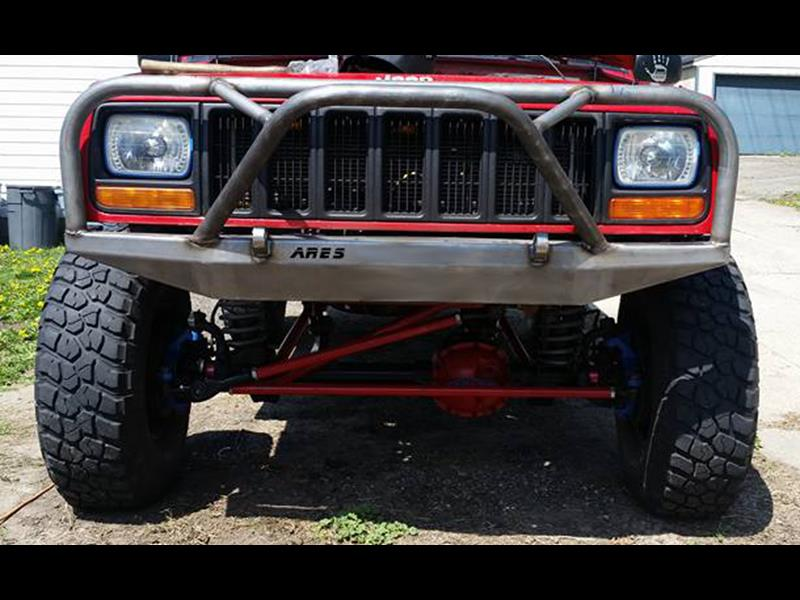 Jeep Grill Guards And Bumpers : Front bumper with grille guard cherokee xj and comanche mj